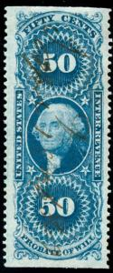 momen: US Stamps #R62b Used Revenue
