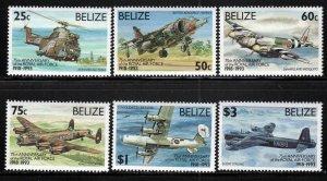Belize # 1003-09 ~ Cplt Set of 6 ~ British Airforce, Planes  ~ Unused, HMR