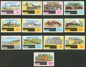 NEVIS Sc#100-112 1980 Overprints Complete Set OG Mint NH