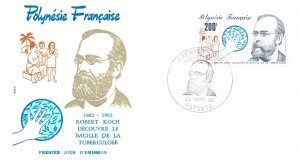 French Polynesia, Worldwide First Day Cover, Medical