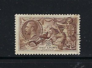 GREAT BRITAIN SCOTT #222  1934 2/6 SHILLING- REENGRAVED SEAHORSE- USED
