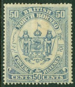 NORTH BORNEO : 1888-92. Stanley Gibbons #46a Chalky Blue. VF, Mint OG, Cat £130.
