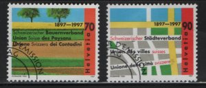 SWITZERLAND, 996-997, USED,1997 Swiss farmers union