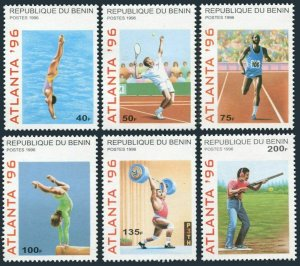 Benin 829-835,MNH.Mi 764-769,Bl.14. Olympics Atlanta-96.Diving,Tennis,Water polo