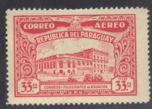 PARAGUAY SC# C85 **MH** 33.75p 1935  AIRMAIL SEE SCAN