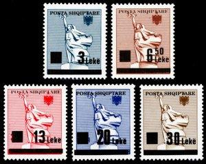 Albania 1993 Scott #2435-2439 Mint Never Hinged