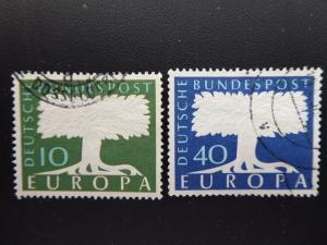 Germany 1957   Sc# 771-772   CV 0.60      (B#4)