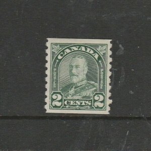 Canada 1930 Defs Coil, 2c Green Imperf x P8.5 MM SG 306