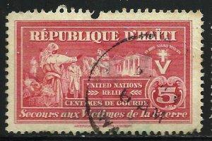 Haiti Postal Tax 1945 Scott# RA8 Used (top edge)