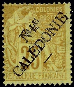 New Caledonia #27 Mint F-VF hr SCV$30...French Colonies are Hot!