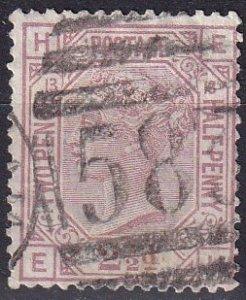 Great Britain #67 Plate 13 F-VF Used  CV $60.00 (SU7810)