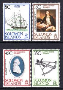 Solomon Islands MNH 381-4 Captain Cook's Voyages 1976