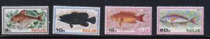 Niue Sc 156-9 1973 Fish stamp set mint NH