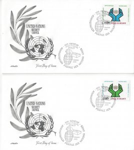 United Nations Geneva  67-8  FDC  Artmaster Security Council