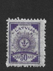 Latvia 1919,Coat of Arms,50k,Pelure paper,Scott # 23,VF MNH**OG