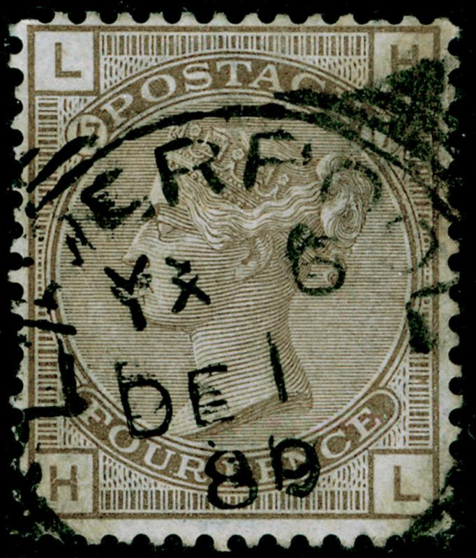 SG154, 4d grey-brown plate 17, FINE USED. Cat £525. HL