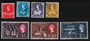 K.U.T. 1960 Various Designs 30c,40c,50c,65c,1sh,1.30sh,2sh USED