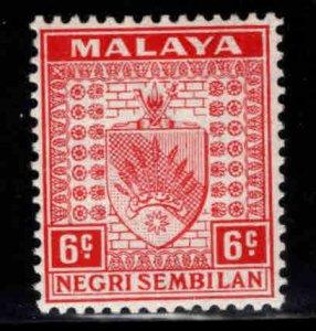 MALAYA Negri Sembilan Scott 25 MH* coat of arms stamp