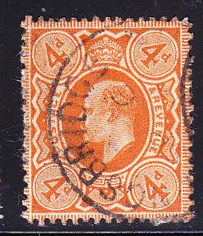 Great Britain 1911 4d KEVII orange VF/used(o)