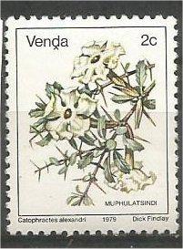 VENDA, 1979, MNH 2c, Flowers, Scott 6