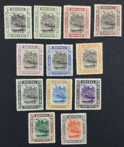 MOMEN: BRUNEI SG #23-33,23x 1907-10 MINT OG H £240 LOT #226259-5579