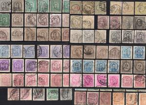 PORTUGAL post CLASSIC STAMPS up to 1900 used cancel postmarks paper perf variety