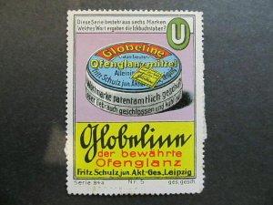A4P4F58 Reklamemarke Globus mint no gum