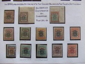 Straits EVII 1906 Labuan overprints mint set