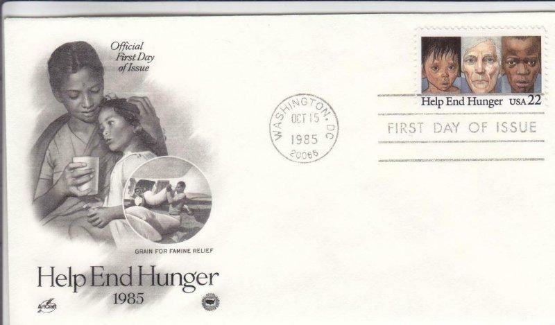 1985, Help End Hunger, Artcraft, FDC (D12873)