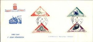 Monaco, Worldwide First Day Cover, Helicopters, Ships, Zeppelin, Trains