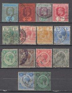 COLLECTION LOT OF # 930 BRITISH HONDURAS 14 STAMPS 1902+ CV +$36