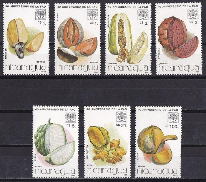 Nicaragua 1986  Nuts and fruits set MNH**