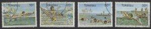 TOKELAU ISLANDS SG73/6 1980 WATER SPORTS FINE USED