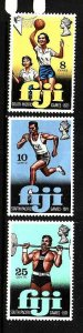 Fiji-Sc#321-3-unused NH set-Sports-South Pacific games-id3-1971-