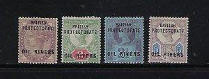 NIGER SCOTT #2-5 1892 GREAT BRITAIN OVERPRINTS- MINT  HINGED
