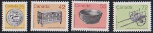 Canada USC #1080-1083 Mint VF-NH Cat, $6.30 1987 Complete Set of Four