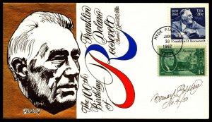 Scott 1950 / 930 20 Cents Roosevelt Bernard Goldberg Hand Painted FDC 4 Of 50