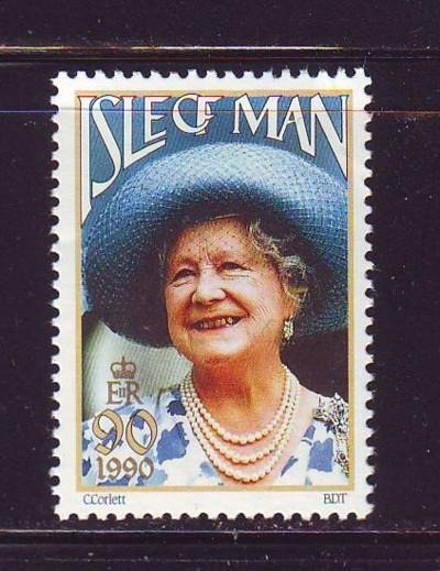 Isle of Man Sc 425 1990 Queen Mother 90  stamp NH
