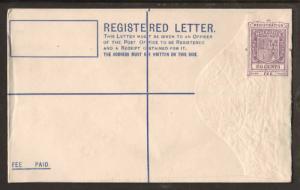 Mauritius H&G 8, 1920 20c SPECIMEN Registered Envelope