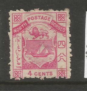 NORTH BORNEO  1883  4c  ARMS  MH   SG 6