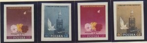 Poland Stamps Scott #687 To 692, Mint Never Hinged, Imperforate Set - Free U....