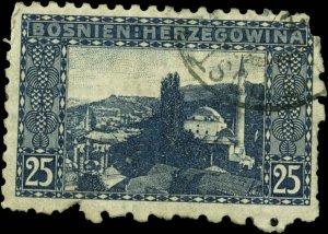 Bosnia and Herzegovina Scott #37a Used  Perf 9 1/4