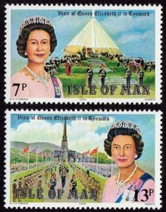 Isle Of Man MNH 154-5 QE II Royal Visit 1979