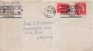Cuba 1c Communications Building Postal Tax and 2c Gomez 1959 Habana, Cuba Com...