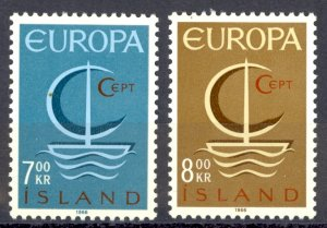 Iceland Sc# 384-385 MH 1966 Europa