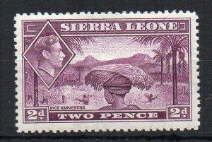 Sierra Leone 1938-44 2d mauve Rice Harvesting MLH