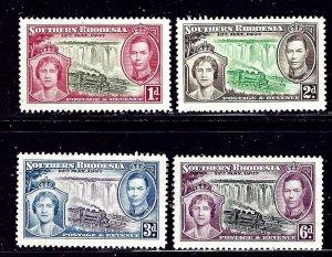 Southern Rhodesia 38-41 MNH 1937 KGVI Coronation    (ap1677)