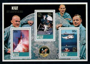 [102267] Niue 1979 Space travel weltraum Apollo 11 helicopter Sheet MNH