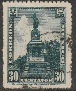 MEXICO 641, 30¢ CUAUHTEMOC MONUMENT Unwmk USED. VF.  (391)