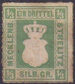 Mecklenburg-Strelitz #2 Unused  CV $80.00  (Z3053)